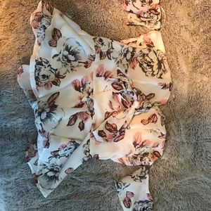 Peplum style floral top